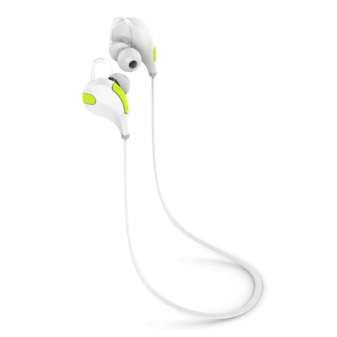 Bluetooth Headphones, SUFUM Wireless Earbuds Bluetooth In-Ear Headphones with Microphone for iPhone, Samsung, Android, HTC and other Bluetooth-enabled Devices (White)