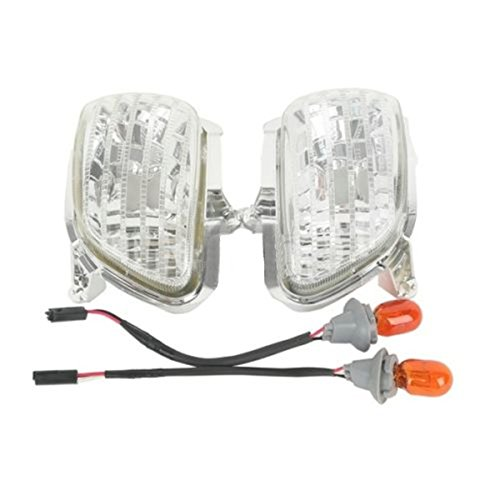 Clear Front Side Turn Signal Lights For Honda Goldwing GL1800 01-14 02 03 04 05