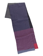 Cotton Rich Colour Block Scarf with Cashmere