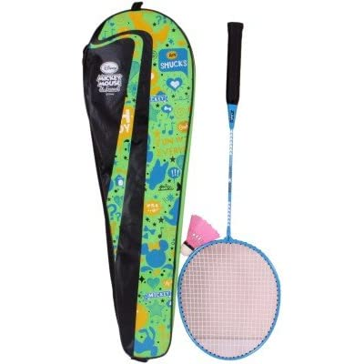 Disney Mickey Mouse Combo Badminton Racquet, Junior G4 (Blue)