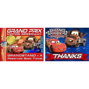 Cars 'Grand Prix Dream Party' Invitations and Thank You Notes w/ Envelopes (8ct) - 1