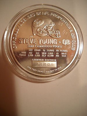 1 oz 999 silver Steve Young 08 San Francisco