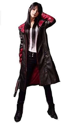 [DMC Game Devil May Cry 5 Dante Jacket Cosplay Costume Unisex High-Quality Coat] (Devil May Cry 3 Costumes)