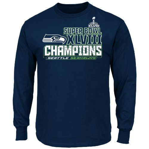 NFL Super Bowl Champion Seattle Seahawks Champion Choice VI Long Sleeve Tee, X-Large at Amazon.com
