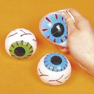 Squishy Eyeballs : Amazon.com: Eyeball Sticky Splat Balls - Halloween Toys, Games & Novelties & Putty & Squishy ...