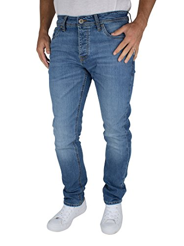 Jack & Jones Uomo Slim fit Tim originali 013 Jeans, Blu, 34W x 34L
