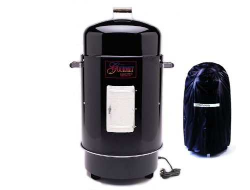 Brinkmann 81070807 Gourmet Electric Smoker and Grill with Vinyl Cover, Black Picture