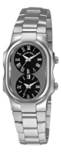 Philip Stein Women's 1GCBSS Tesslar Black Dual Time Dial Watch