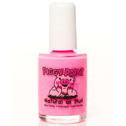 Piggy Paint 100% Non-toxic Girls Nail Polish - Safe, Natural Chemical Free Low Odor for Kids - Pinkie Promise