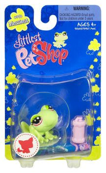 Buy Low Price Hasbro Littlest Pet Shop Messiest Single Figure Frog with Pink Waterbottle (B002AX8K8E)