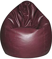 Jupiter Leatherette XXXL Bean Bag Cover only (without Filling) - Maroon