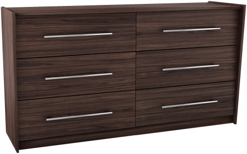 Sonax DW-2008 Pacific Six Drawer Dresser in Ebony Pecan