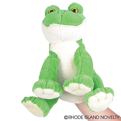 "10"" Frog Hand Puppet With Frog Sound"