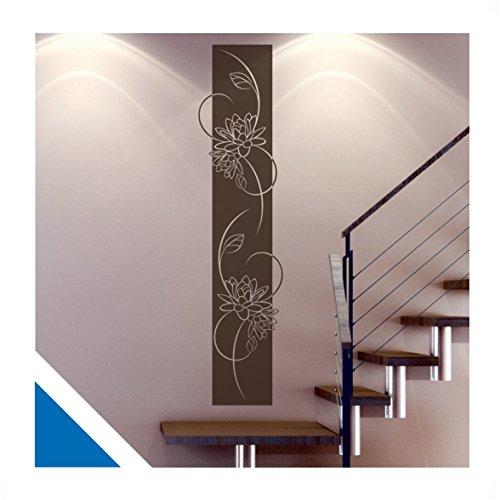 wandtattoo medina florales wandbanner inkl rakel ban14g azurblau 120 x 28 cm mit farb u. Black Bedroom Furniture Sets. Home Design Ideas