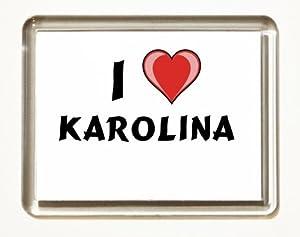 I Love Karolina Fridge Magnet Kitchen Home