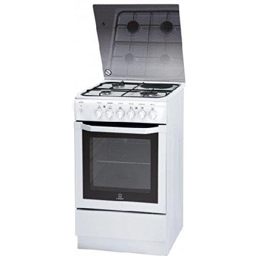 Indesit IW5MSCGA (W)/FR cuisinière - fours et cuisinières (Autonome, Blanc, Gaz naturel, Combiné, Convection, Grill, A)