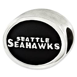 Sterling Silver Enameled Seattle Seahawks NFL Bead for Refletion Series