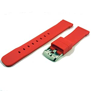 ZeitPunkt-siliconeband sporty ralley-red 22 mm