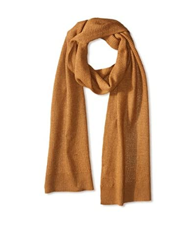 Cullen Men's Allover Texture Cashmere Knit Scarf, Nutmeg
