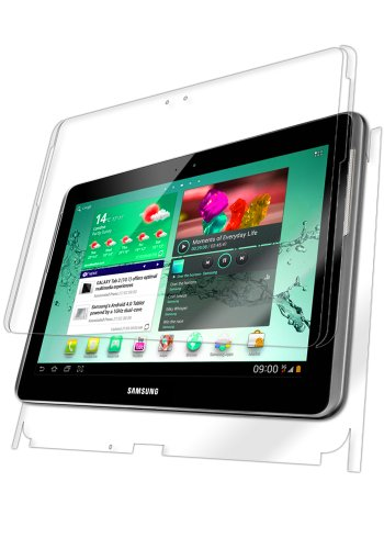 Iq Shield Liquidskin - Samsung Galaxy Tab 2 10.1 Screen Protector + Full Body (Front And Back) With Lifetime Replacement Warranty - High Definition (Hd) Ultra Clear Tablet Smart Film - Premium Protective Screen Guard - Extremely Smooth / Self-Healing / Bu front-425773
