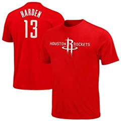 James Harden Houston Rockets #13 NBA Mens Player Name & Number T-shirt - Red by VF
