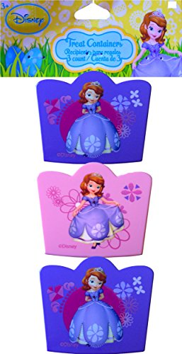 Sofia the First Easter Treat Containers 3 Count , Perfect for Stuffing with Small Candy and Stickers,egg Hunts, Birthday Games !