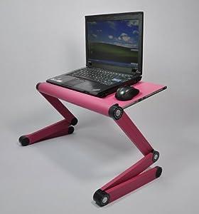 Stand laptop holes supporto porta computer da letto divano e scrivania in alluminio con piano - Porta pc da letto ...