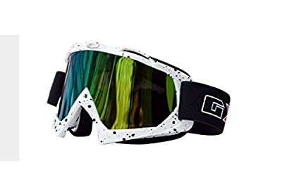 ZH PU Resin Windproof Dustproof Distortion-Resistant Scratch Resistant Motocross Dirt Bike Wrap Goggles Ski Goggles Protective Safety Glasses