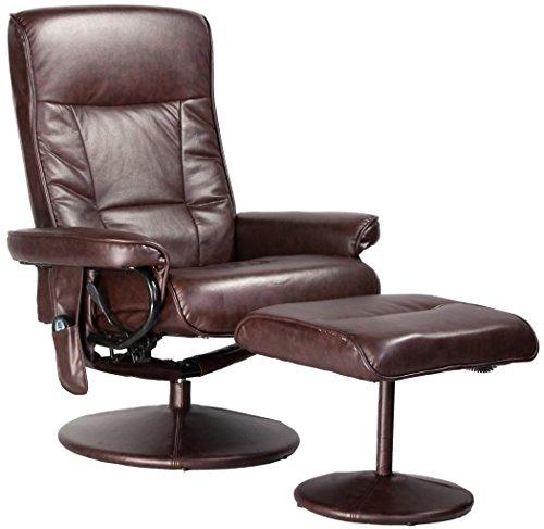 Relaxzen Leisure Recliner Chair with 8-Motor Massage & Heat