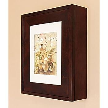 Coffee Bean Picture Perfect Medicine Cabinet, a wall-mount picture frame medicine cabinet without mirror - available in White, Black, Espresso, and more!