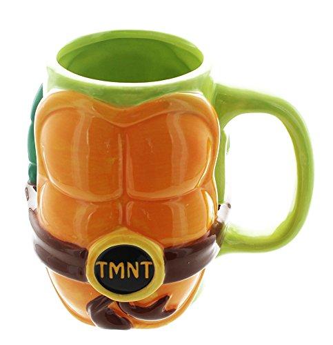 Teenage Mutant Ninja Turtles TMNT Molded Shell Coffee Mug 32 oz (Ninja Turtle Coffee Mug compare prices)