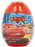 ONE Disney CARS plastic surprise egg with candy and stickers or toy