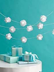 Martha Stewart Crafts Garland, White Lighted Camellia