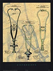 Stethoscope Art Poster PRINT Patent poster company 18x24