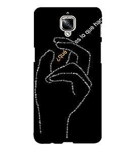 EPICCASE Hand symbol case Mobile Back Case Cover For OnePlus Three (Designer Case)