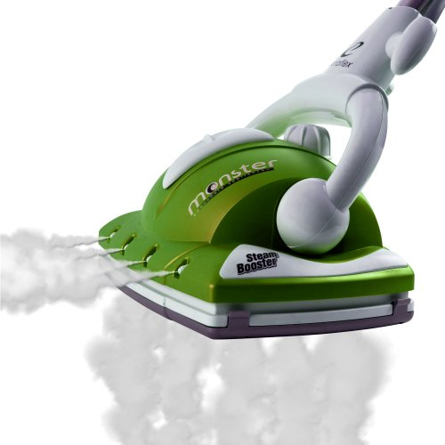 Euroflex Monster Steam-Jet-II 1200w Disinfecting Floor Steam Cleaner With Carpet Glide and 2 UPGRADED Microfiber Pads