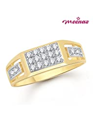 Meenaz Rings For Men Gold Gents Ring In Fashion Jewellery For Men In American Diamond Cz FR352