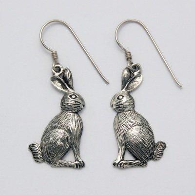 Large Sitting Rabbit Earrings