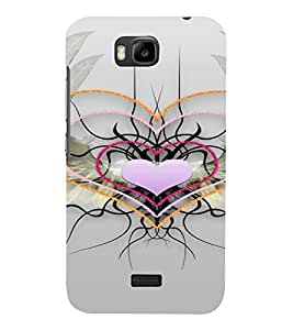 PrintVisa Web of Love Design 3D Hard Polycarbonate Designer Back Case Cover for Huawei Honor Bee