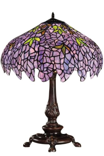 tiffany lamp of green handmade