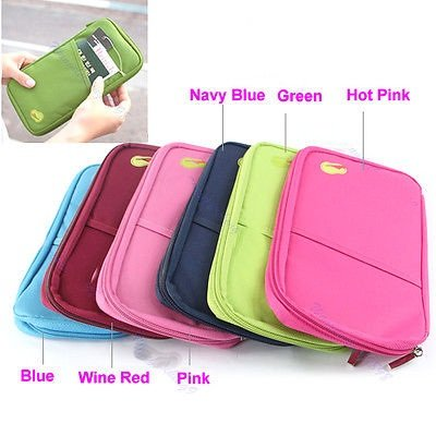 Travel Bag Pouch Passport Id Credit Card Wallet Cash Holder Organizer Case Box (Pink) (Iphone 5 Protective Sheets compare prices)
