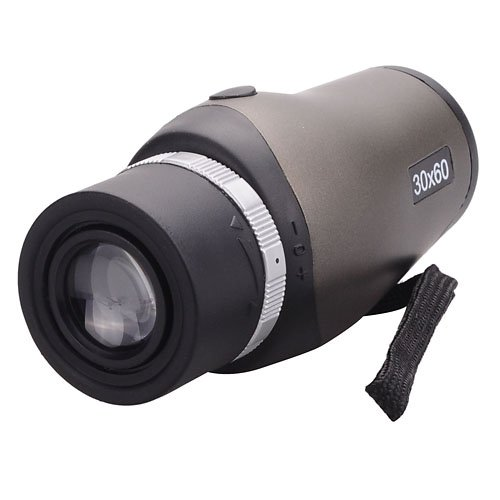Compact High Clear 30X60 Zoom Telescope Monocular With Carrying Pouch For Outdoor Sports Travel - Gray