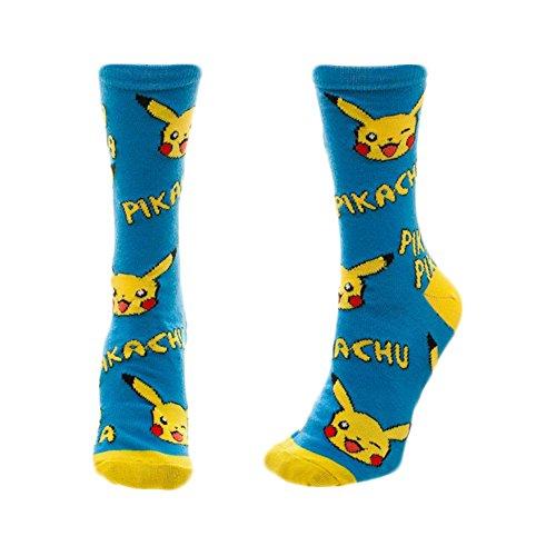 Pokemon-Pikachu-Print-Juniors-Crew-Calcetines