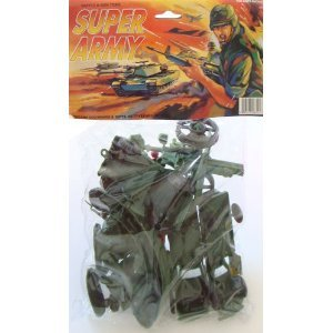 Buy Low Price Americana Action Figures & Accessories: Army Men Plastic Toy Soldiers Play Set (B002OJ7D64)