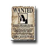English Springer Spaniel Wanted Fridge Magnet