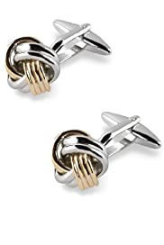 Mixed Metal Knot Cufflinks [T09-1630-S]