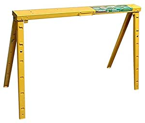 Crawford Adjustable 25-Inch to 34-Inch Tall Folding Steel Sawhorse, Single