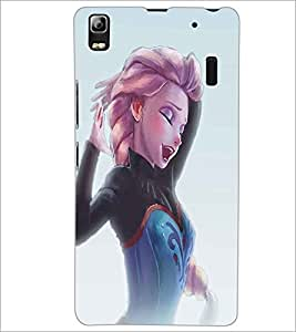 LENNOVO A7000 BEAUTIFUL GIRL Designer Back Cover Case By PRINTSWAG