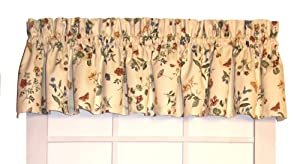 Hannah's Garden Tailored Valance Curtain 80-Inch-by-13-Inch - 3 Inch Rod Pocket