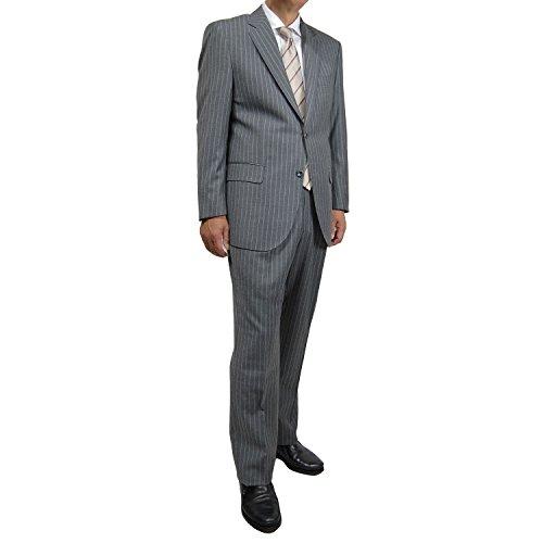 (ロロピアーナ) Loro Piana シングルスーツ ビジネススーツ メンズスーツ グレーストライプ 158205 (AB7)